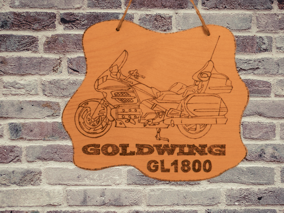 Honda Goldwing Holztafeln